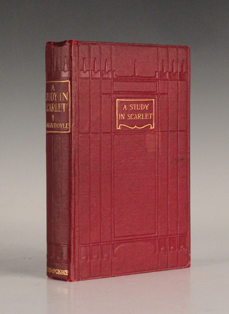 DOYLE, Arthur Conan. A Study in Scarlet. London: Ward, Lock & Co., Limited, [n.d. but circa 1902.] On sale at Toovey's