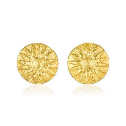 22K Gold Sunburst Earclips. Photo: Fortuna