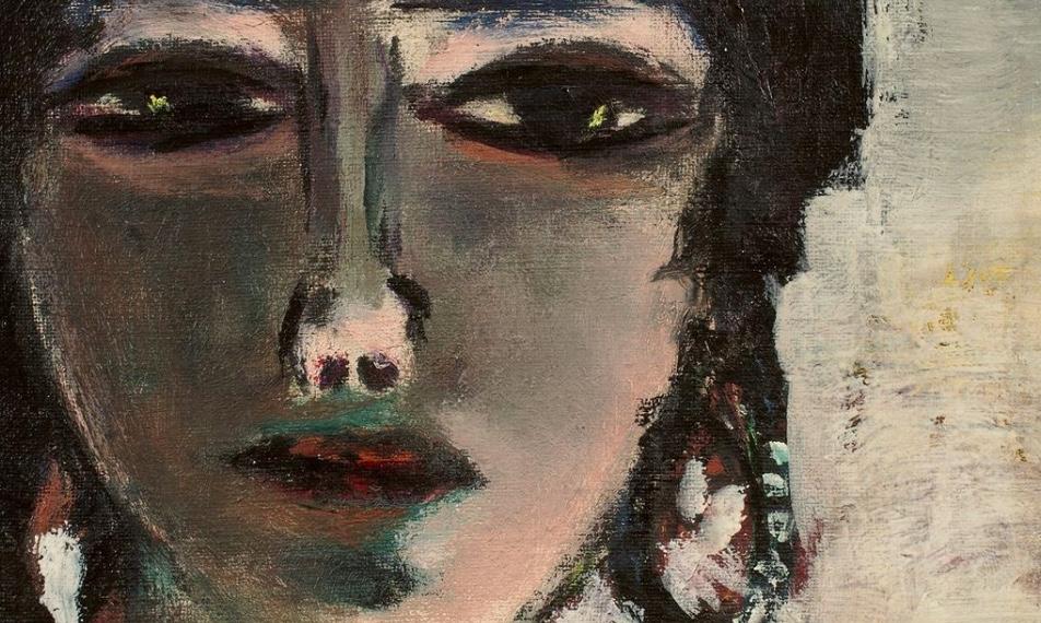 """""""Die Ägypterin"""" stammt aus dem Nachlass Barbara Göpel, deren Mann Erhard das Gemälde 1942 beim Künstler erworben hatte. Barbara Göpel veröffentlichte später das umfangreiche Werkverzeichnis Max Beckmanns."""