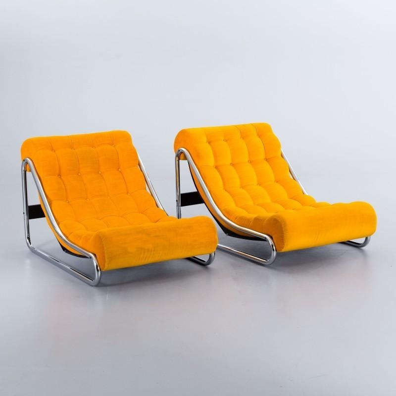 """Deux fauteuils """"Impala"""", Gillis Lundgren pour IKEA, 1972 Adjugés 680 EUR le 27 octobre 2016 par Bukowskis"""