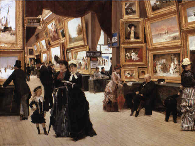 Édouard Dantan, Un Coin du salon en 1880 | Abb. via Wikipedia
