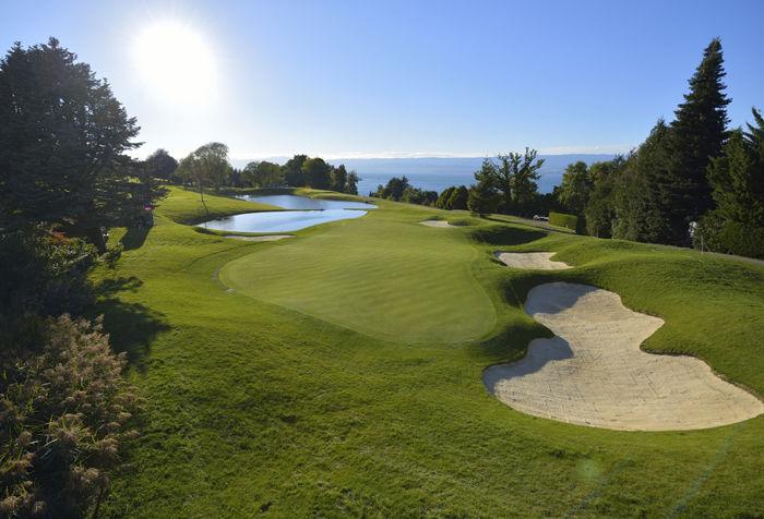 Golfspielen in Evian