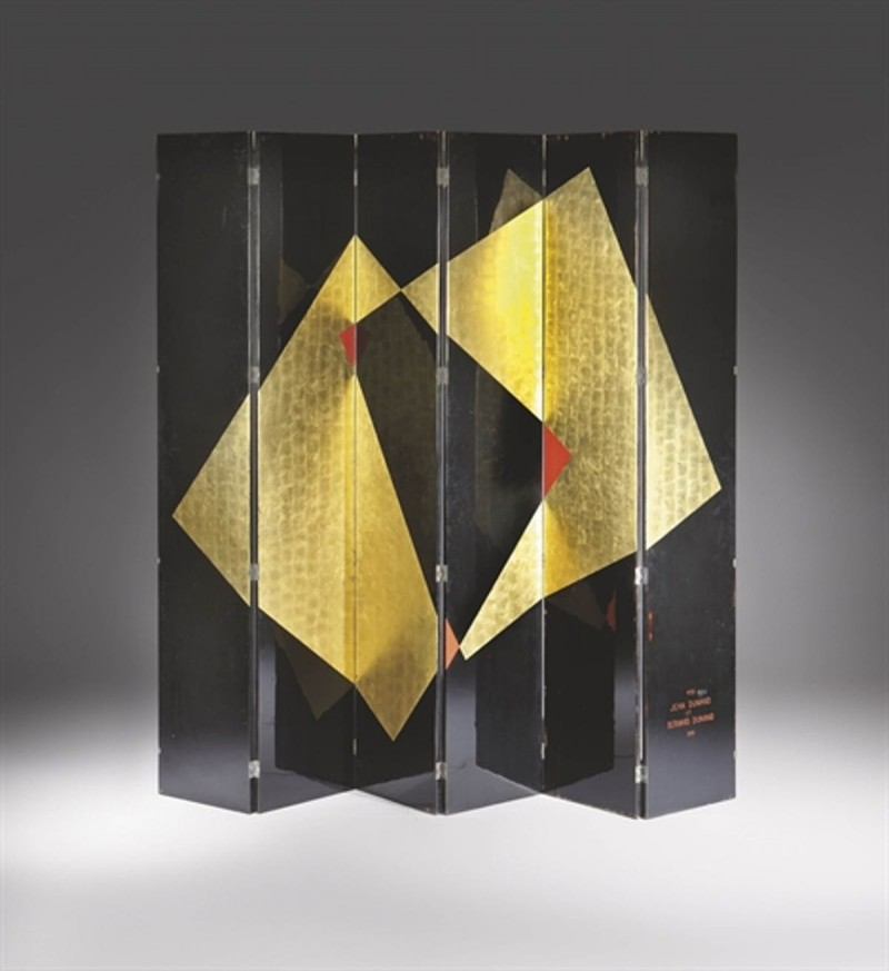 Screen, year 1931 by Jean Dunand. Sold at Christie's in 2011. Foto: Christie's.
