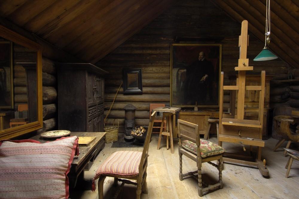 Anders Zorns ateljé i Zorngården. Foto: Lars Hallén, Zornmuseet