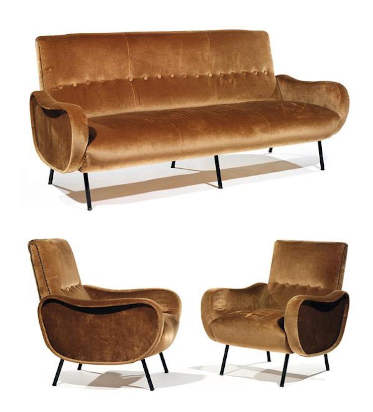 """MARCO ZANUSO (né en 1916) & ARFLEX (éditeur) Salon """"Lady"""" création de 1951. Utropspris 28 300 SEK, Tajan"""