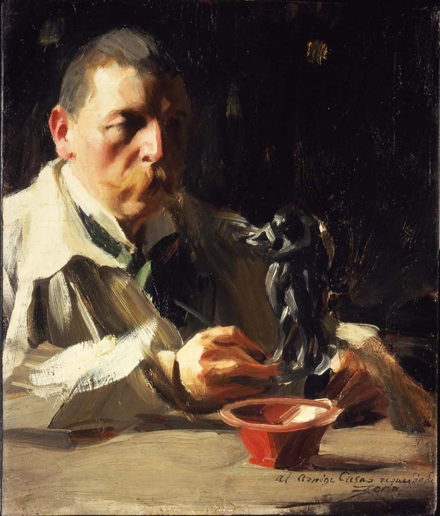 Autoportrait avec faune et nymphe, 1895, collection privée, image via Zorn Museum