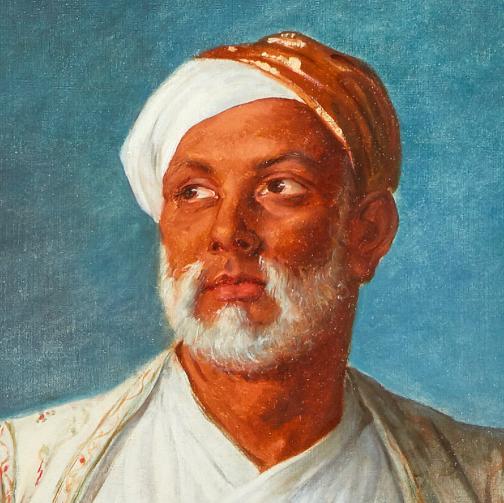 Élisabeth Vigée-Lebrun (1755 Paris 1842), Portrait des Mohammed Dervish Khan, 1788 (Detail) | Abb.: Sotheby's