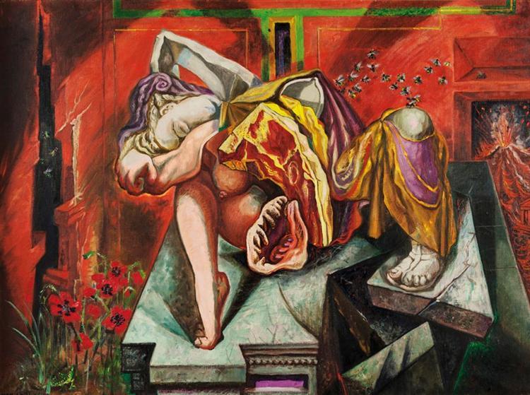 André Masson, Gradiva, 1938, image via Pinterest
