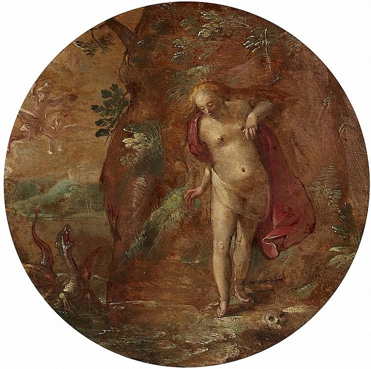 Abraham Bloemaert (1566 Gorinchem - 1651 Utrecht) Umkreis - Andromeda wird von Perseus gerettet, Öl/Holz,