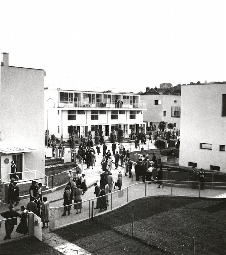 """Utställningsområdet """"Werkbundsiedlung, Mainz"""" i Wien 1932. Arkitekt är Josef Frank. Photo: DigitaltMuseum"""