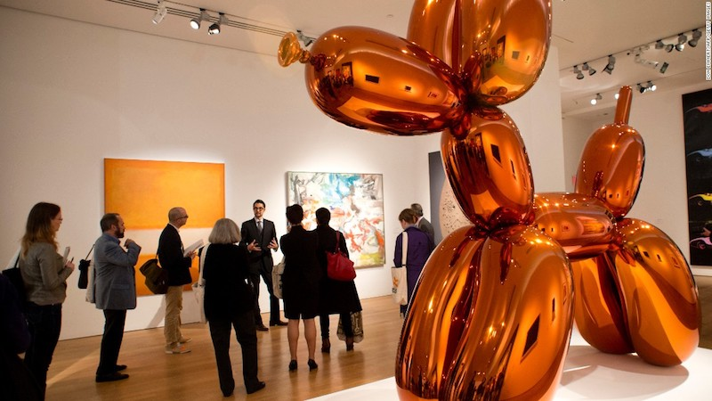 Jeff Koons, Balloon Dog (Orange).