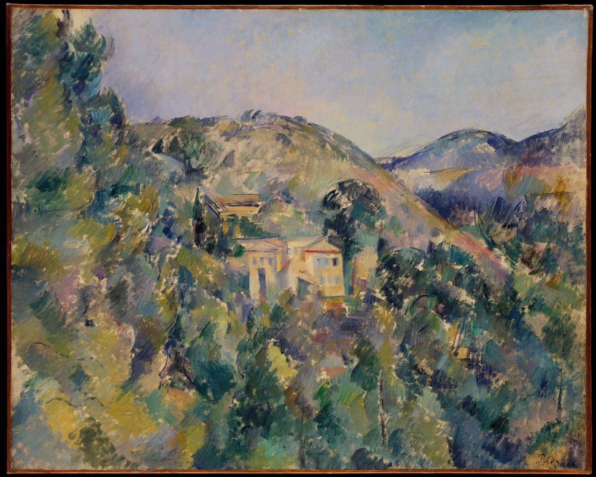 View of the Domaine Saint-Joseph, Paul Cezanne. Late 1880s, oil on canvas. Image: The Met