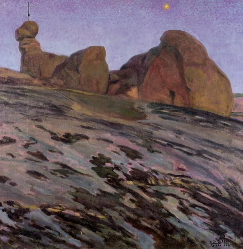 """Eduardo Chicharro, Lotto 97, """"Malinconia"""", Olio su tela, 1909."""