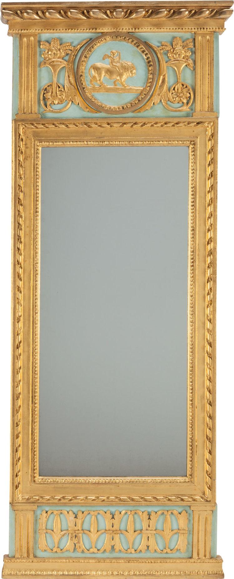 En fransk Ludvig XVI spegel i förgyllt trä, från cirka 1790. Utropspris 6 900 SEK, Heritage Auctions
