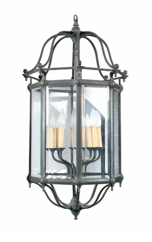 Importante lanterne en bronze