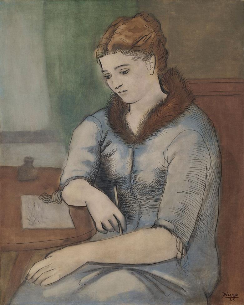 """""""La Lettre (La Réponse)"""", Pablo Picasso. 1923, Foto: 2019 Estate di Pablo Picasso / Artists Rights Society (ARS), New York, via Christie's."""