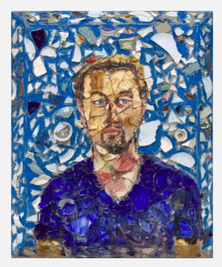 Julian Schnabel, Untitled (Portrait of Leonardo DiCaprio) 2017