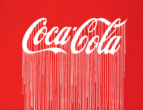 Liquidated Coca-Cola (Luminescent Print Edition) by ZEVS. Solid colour screen print, 50 edition on sale for £275 at Lazarides London