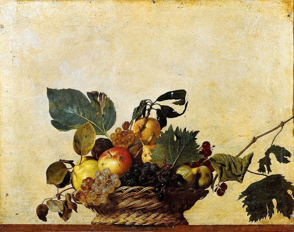 Le Caravage, Le panier de fruits, 1595-96, image via Wikipedia