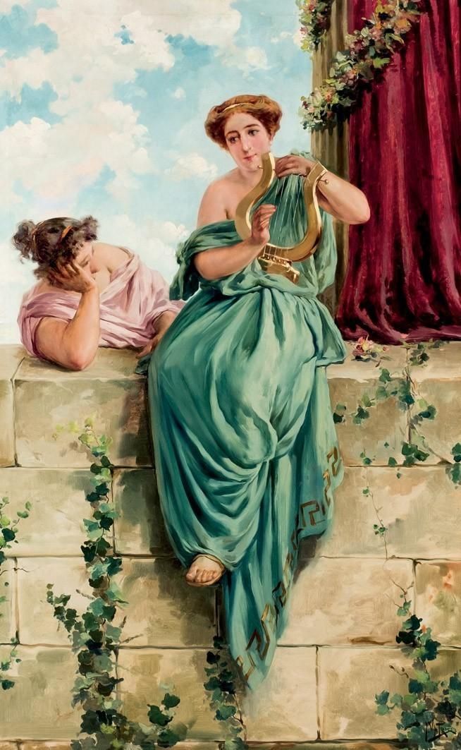 JULIO VILA Y PRADES (1873 - 1930), Römische Mädchen, signiert