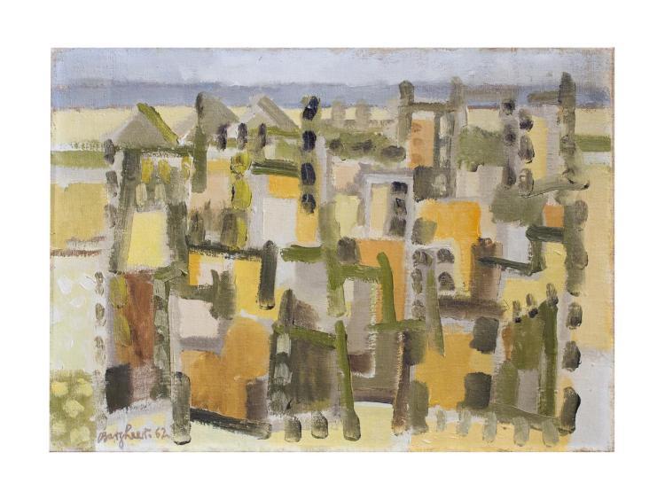 EDUARD BARGHER (1901 Finkenwärder/ Elbe - 1979 Hamburg) - Cairo, Öl/Lwd., signiert und datiert, 1962