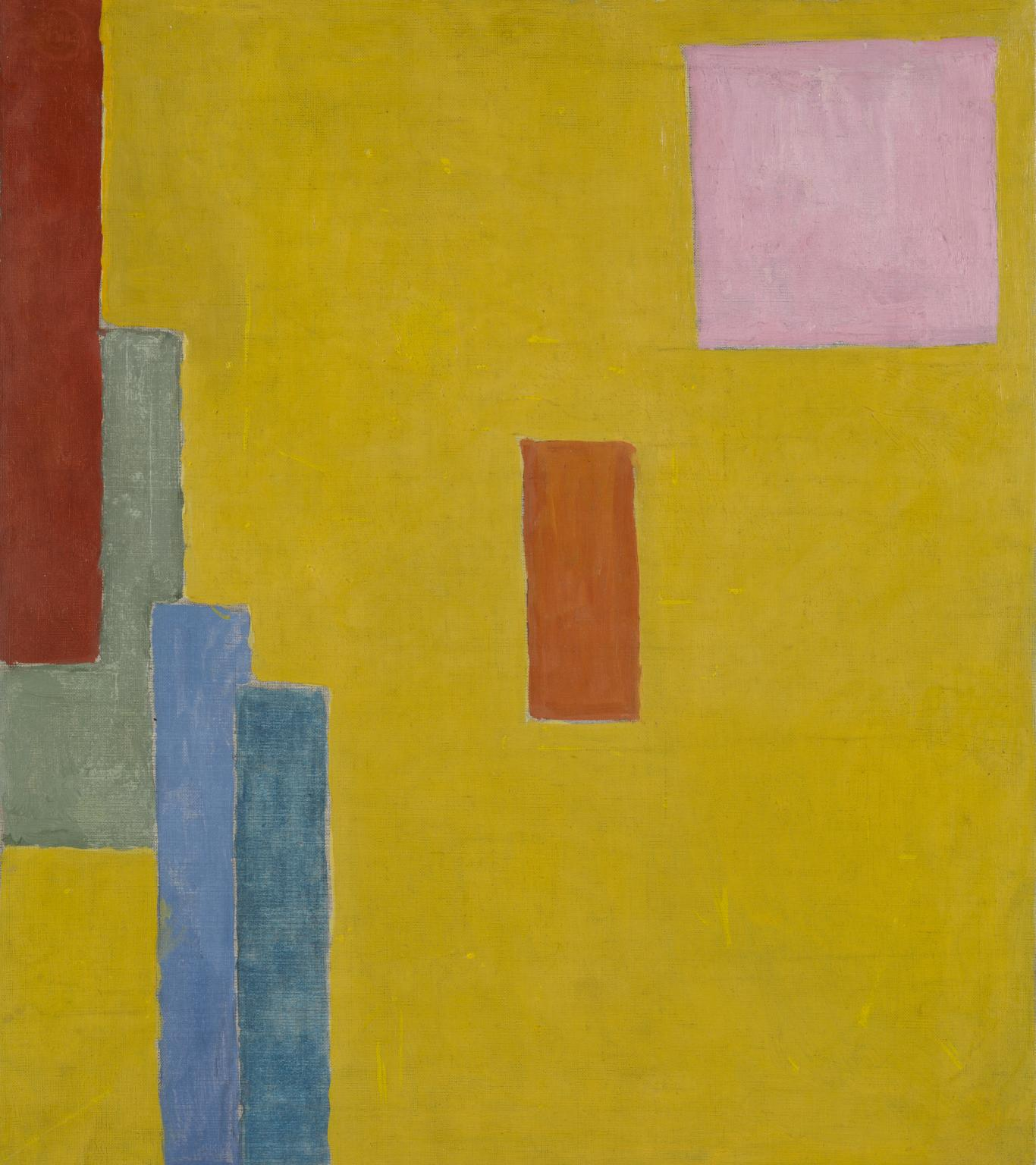 Abstract Painting av Vanessa Bell från 194. Bild: Tate