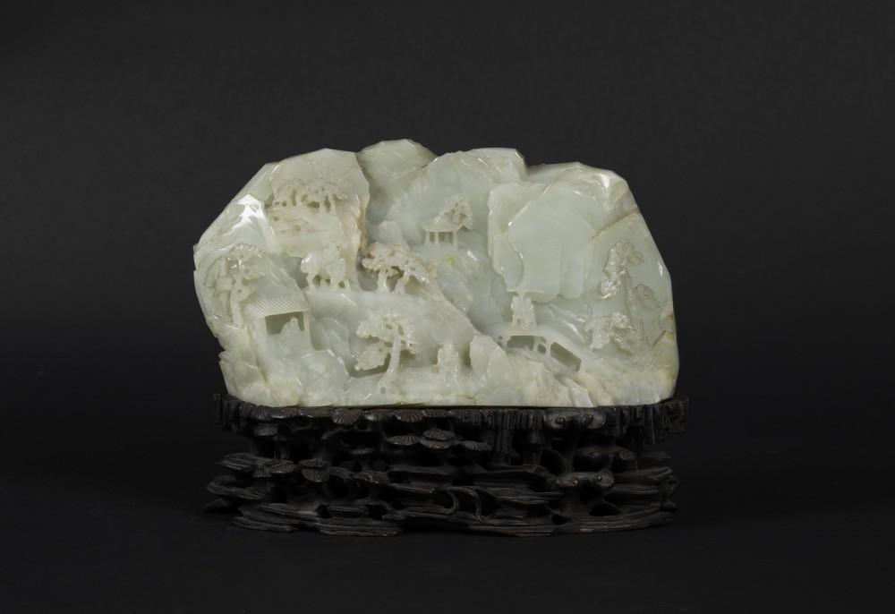 Celadon white jade mountain. Courtesy Cambi