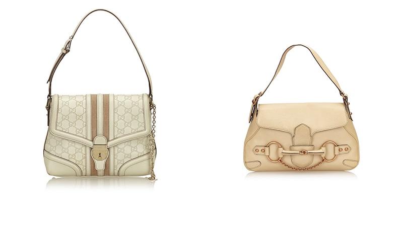 Links: Gucci Guccissima Leather Treasure Rechts: Gucci Leather Horsebit Handbag