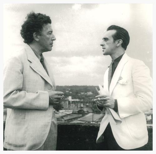 André Breton et Eugenio Granell en 1941
