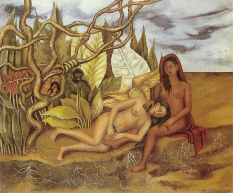"""Frida Kahlo, """"Dos desnudos en el bosque (La tierra misma)"""", 1939. Bild från Christie's."""