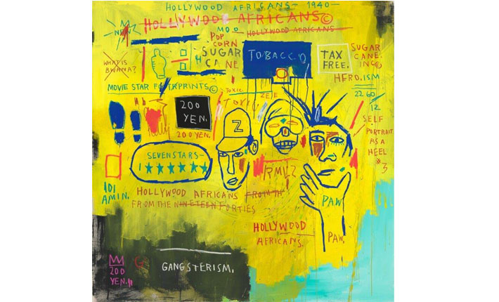 Jean-Michel Basquiat, Hollywood Africans, 1983 Courtesy Whitney Museum of American Art © Artists Rights Society (ARS), New York/ ADAGP, Paris