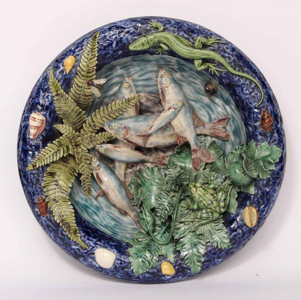 Palissy ware plate