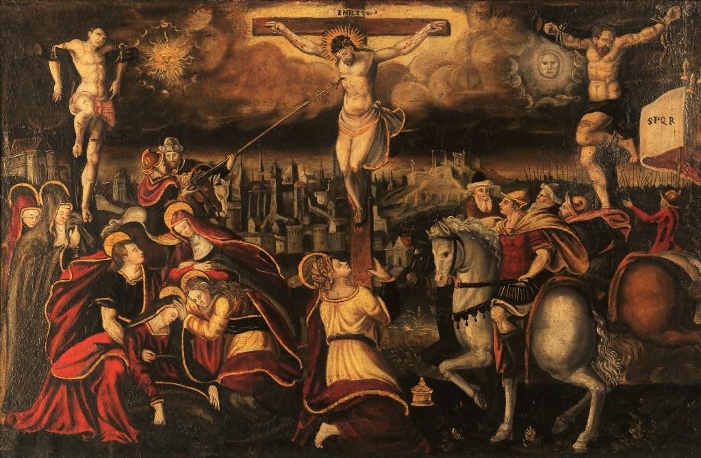Meister der kleinen Passion (Umkreis), 'Crucifixion', 1400-1500-tal
