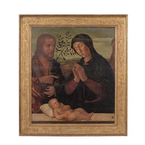 Jacopo da Valenza (attr.), Sacra Famiglia, olio su tavola, cm. 68×60. Foto: Bolli & Romiti