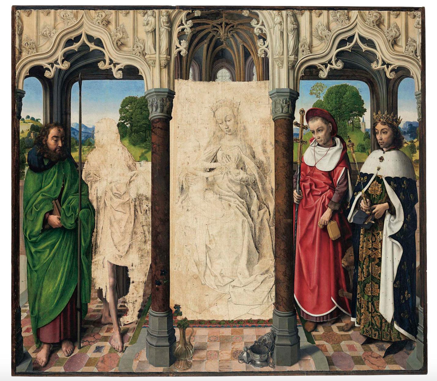 Hugo Van Der Goes (attire.), Die hl. Jungfrau mit Kind und Heiligen   Foto: Christie's