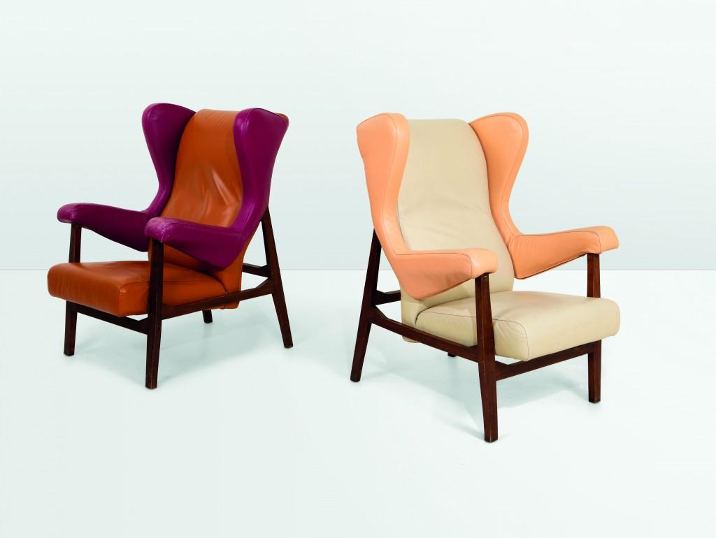 Franco Albini, fauteuil Fiorenza, image ©Cambi Casa d'acte