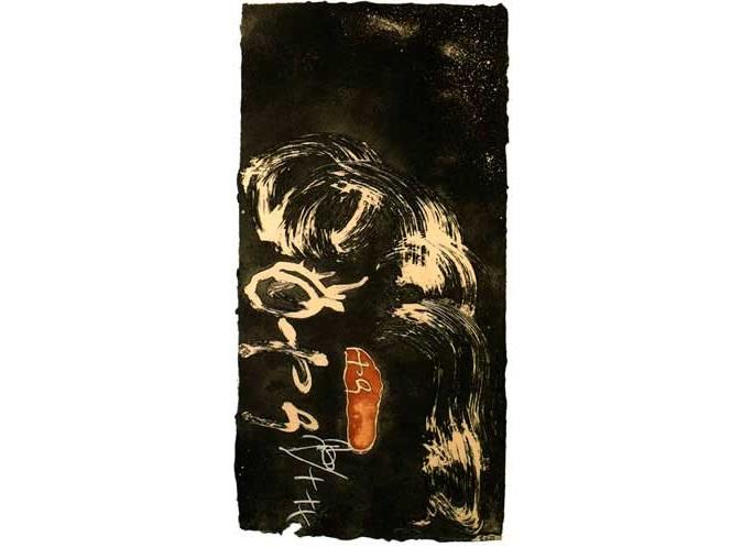"""ANTONI TÀPIES. """"Espiral i Petjada"""" (1990)"""