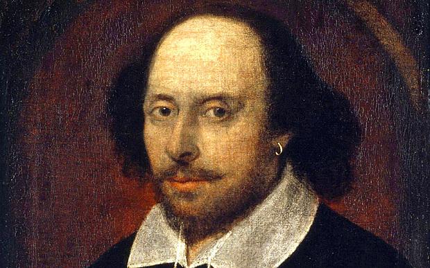 Chandon-porträttet, föreställande William Shakespeare. Bild via Wikipedia.