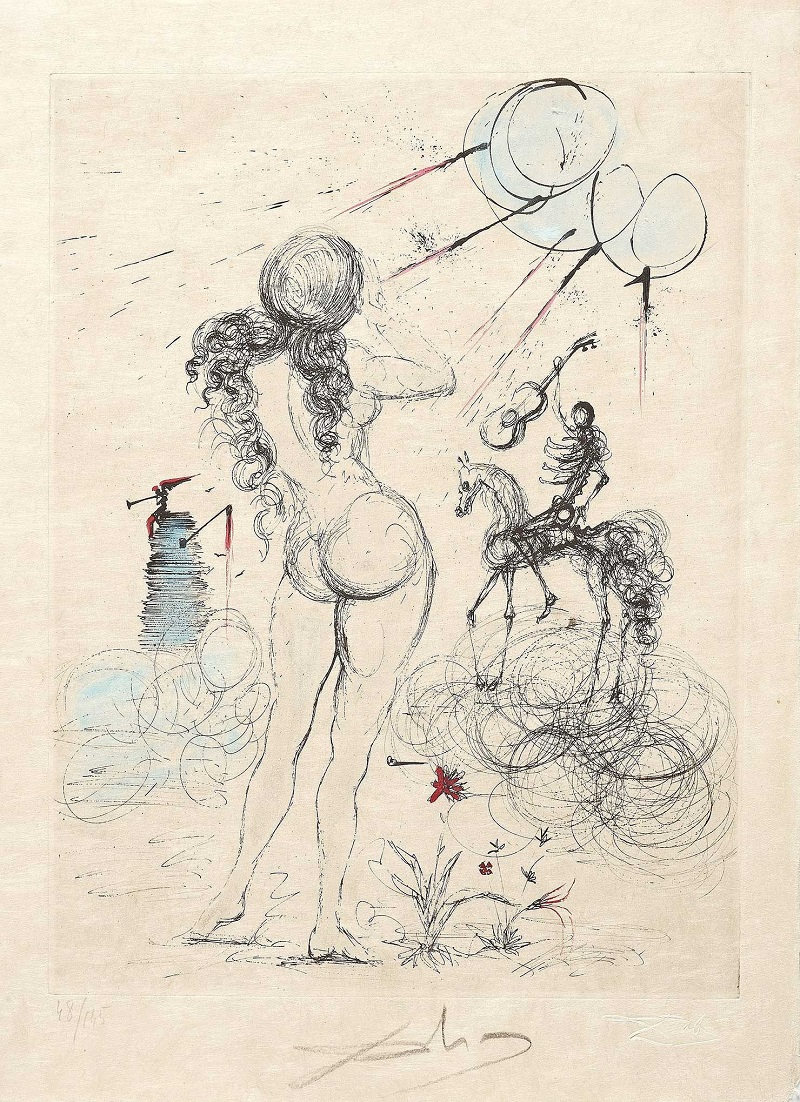 "SALVADOR DALÍ. Serie de 18 grabados ""Poémes secrets d'Apollinaire"" (1967)"