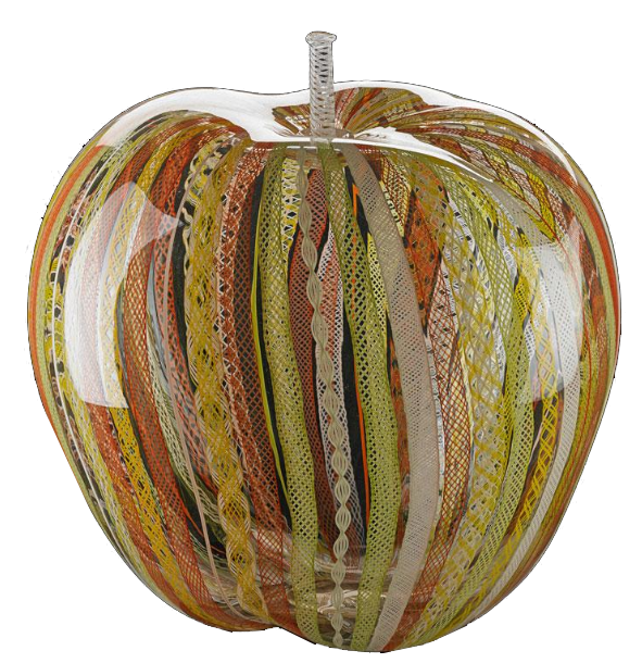 Flora Mace, Joey Kirkpatrick Pomme en verre, Seattle, WA, 1997 Rago Art