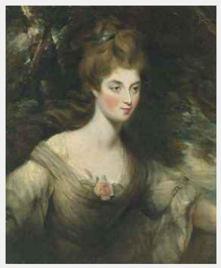 JOHN CONSTABLE. Retrato de Elizabeth, Lady Croft