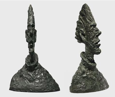 Alberto Giacometti, Grande tête mince und Grande tête mince (Grand tête de Diego), 1954/1955 | Foto via Artisera