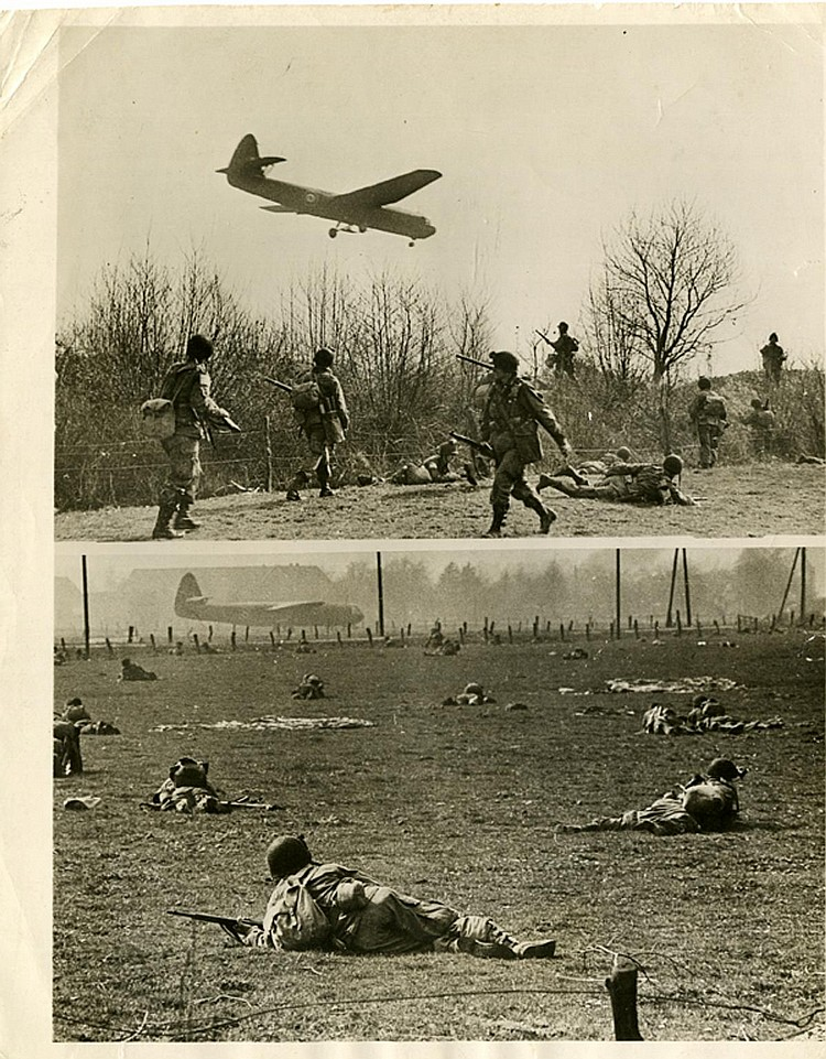 "ROBERT CAPA. ""Gliders & landing troops near Wesel"" (3/31/1945). Photo: Be-Hold."