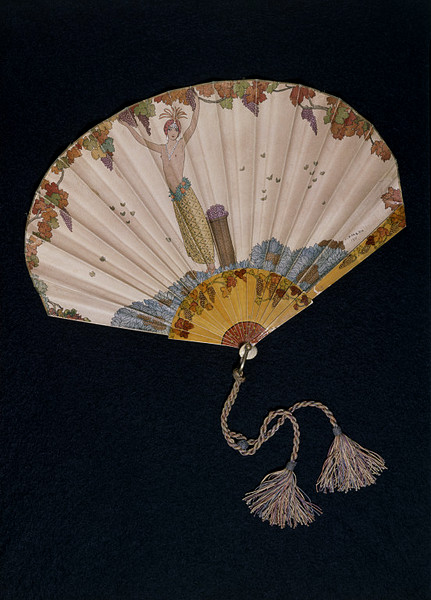 A fan designed by Georges Barbier in 1911, currently on display at the V&A Image via http://josephjgabriele.com/ngg_tag/fan/#gallery/fan/1156