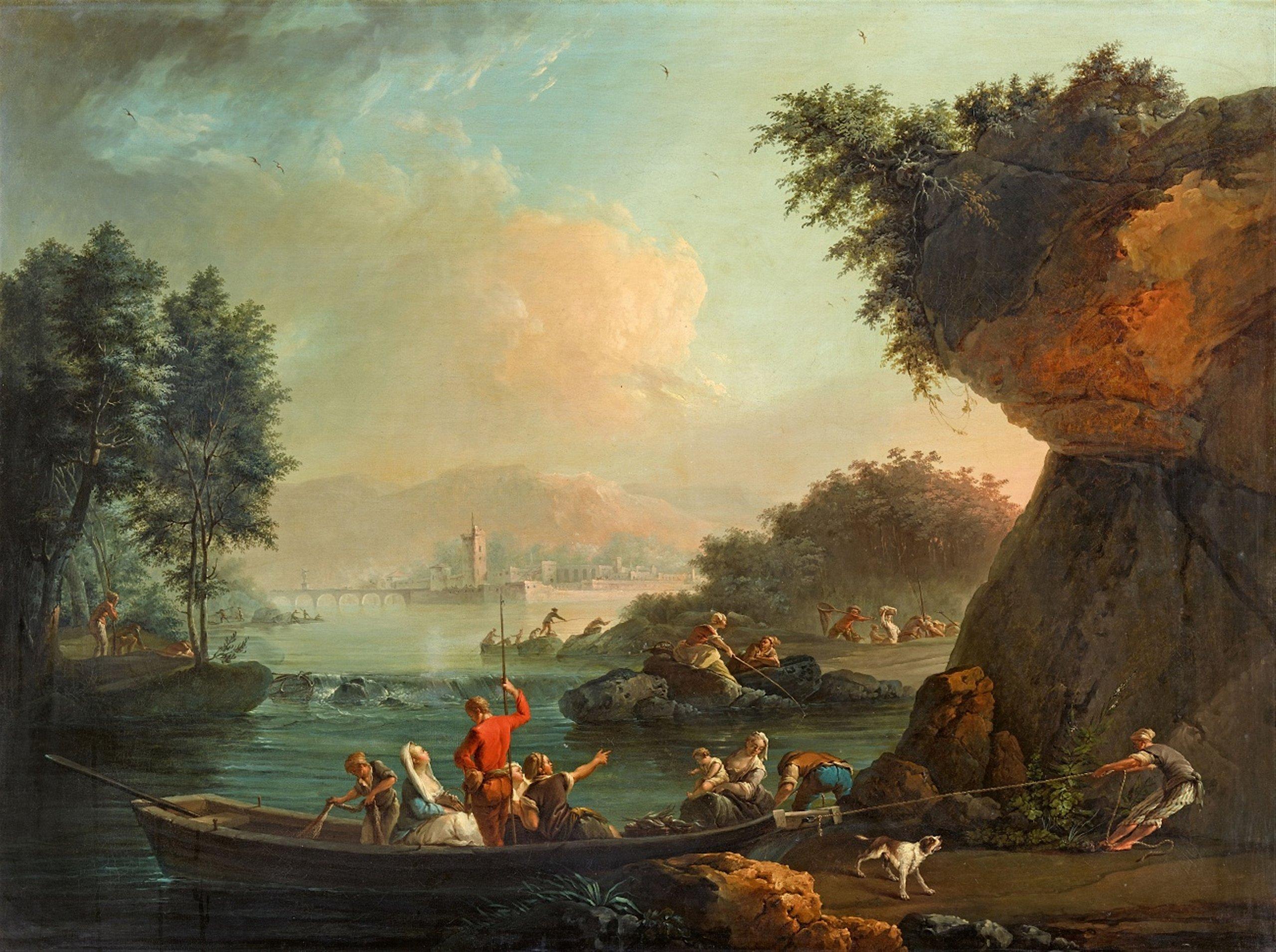 Claude-Joseph Vernet, Paysage côtier au crépuscule - de la série des Quatre moments de la journée, image © Lempertz