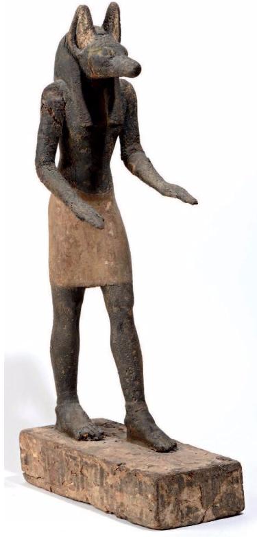 Importante statuette d'Anubis Egypte, Basse-Epoque à Période ptolémaïque, 664-32 avant J.-C.