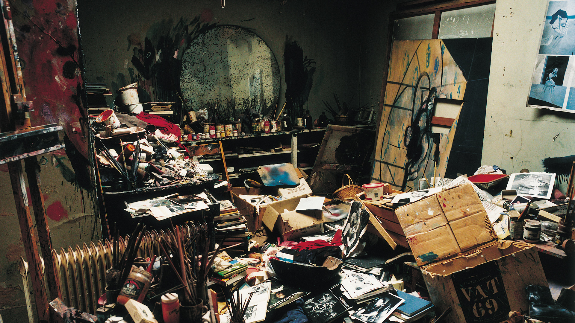 Studio of Francis Bacon, 1998. Photo: The Estate of Francis Bacon