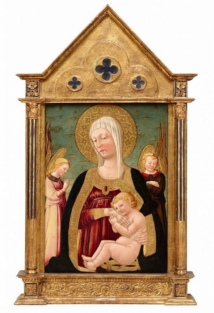 Neri Di Bicci, «Vierge à l'Enfant et aux Anges», tempera sur bois