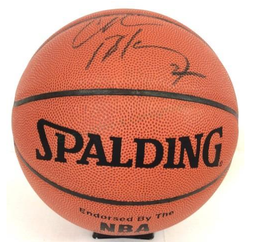 Charles Barkley Autograph Spaulding Basketball EJ'S Auction & Consignment