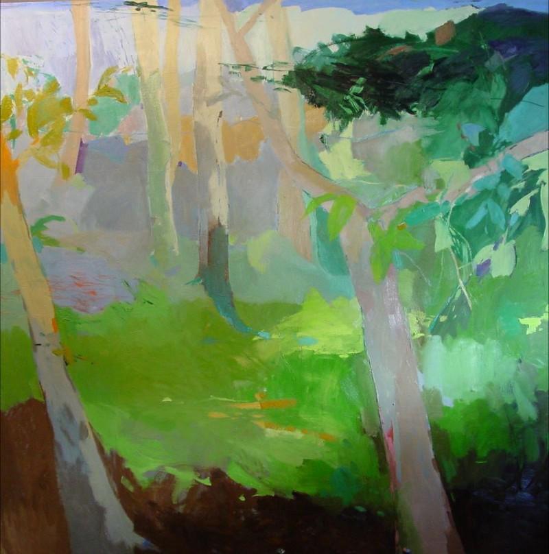 """CAROLINA VERAMENDI B. """"Bosque verde"""" serie Bosques (2008). Precio fijado 5.500 €"""